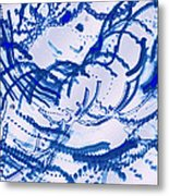 Particles Of Blue Metal Print