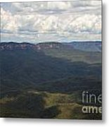 Partly Cloudy Day In The Blue Mountains Metal Print