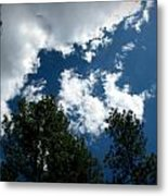 Partly Cloudy Forest Skies Metal Print