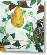 Partridge And  Pears  Metal Print