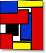 Partridge Family Abstract 1 C Square Metal Print