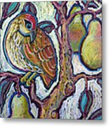 Partridge In A Pear Tree 1 Metal Print
