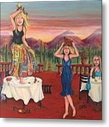 Party In Tuscany Metal Print by Cathi Doherty