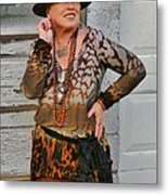 Party Night Gypsy Metal Print