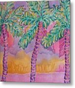 Party Palms Metal Print
