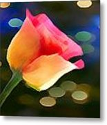 Party Rose Metal Print