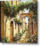 Passando Sotto L'arco Metal Print by Guido Borelli