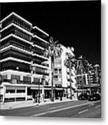 Passeig De Jaume 1 Seafront Road And Properties Salou Catalonia Spain Metal Print