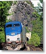 Passenger Train Locomotive Metal Print