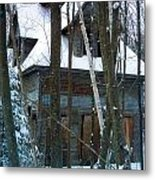 Passing One Snowy Eve 2 Metal Print