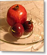 Passion Fruit And Pomegranate Metal Print