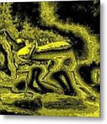 Passion In Grainy Gold Metal Print