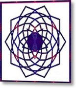 Passionate Purple Prayers Abstract Chakra Art By Omaste Witkowsk Metal Print