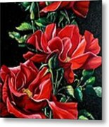 Passionately Red  Metal Print