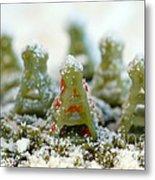 Pasta Christmas Trees Metal Print