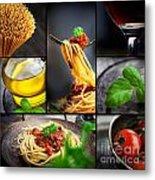 Pasta Collage Metal Print