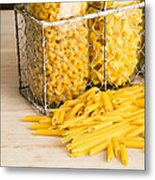 Pasta Shapes Still Life Metal Print by Edward Fielding