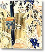 Pastel Abstract Back Fence Metal Print