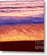 Pastel - Abstract Waves Rolling In During Sunset. Metal Print
