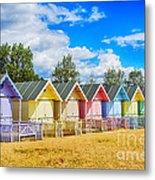 Pastel Beach Huts Metal Print by Chris Thaxter