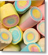 Pastel Colored Marshmallows Metal Print