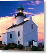 Pastel Drawing Old Point Loma Lighthouse Cabrillo National Monument California Metal Print