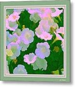 Pastel Flowers II Metal Print
