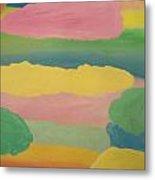 Pastel Rainbow Clouds Metal Print