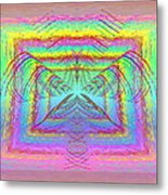 Pastel Rainbow Reverberations Metal Print