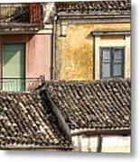 Pastel Roofscape Metal Print