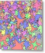 Pastel Stars Metal Print