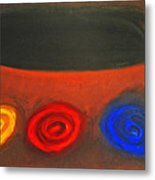 Pastel Three Color Galaxies And A Black Hole Metal Print