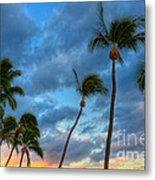 Pastel Tropical Sunrise Metal Print