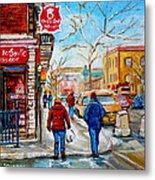 Pastry Shop And Tea Room Metal Print