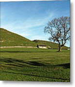 Pasture Land At Thorpe - Derbyshire Metal Print