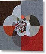 Patchwork Craze - Abstract - Triptych Metal Print