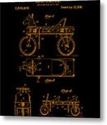 Patent Art 1920 Herzog Hobby Horse Gold Metal Print