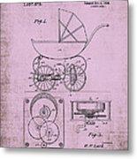 Patent Art Baby Carriage 1920 Lark Invite IIi Metal Print