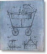 Patent Art Baby Carriage 1922 Mahr Denim Metal Print
