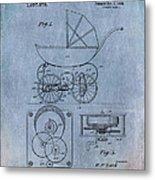 Patent Art Baby Carriage Lark II Invite Metal Print