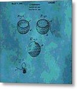 Patent Art Golf Ball Metal Print
