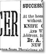 Patent Medicine, 1876 Metal Print