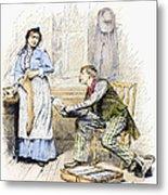 Patent Medicine Salesman Metal Print