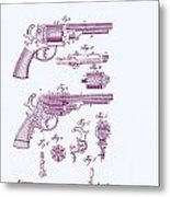 Patented Revolver In Purple Metal Print