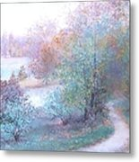 Path By The River Metal Print