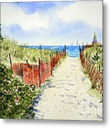 Path To East Beach-watch Hill Ri Metal Print