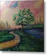 Path To Glory Panel 1 Metal Print by Kendra Sorum