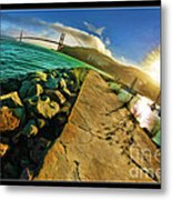 Path To The Golden Gate Metal Print