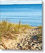 Path To The Lake Superior Beach Metal Print