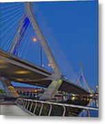 Path To The Leonard P. Zakim Bridge Metal Print